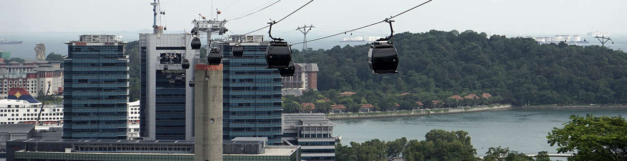 Delight in an exciting ride over the mountains in a cable car in Singapore