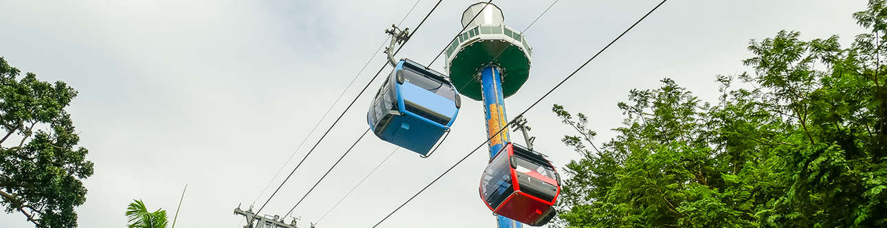 Delight in an exciting ride over the mountains in a cable car ride