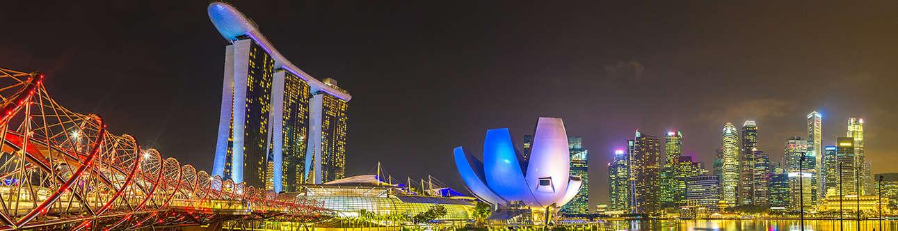 Visit the Helix Bridge in the Singapore