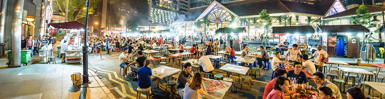 Visit the Lau Pa Sat Hawker Centre