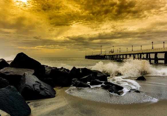 Rock Beach Pondicherry India