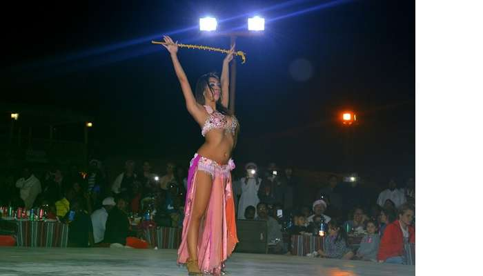 Dance performance at the Desert Safari in Dubai