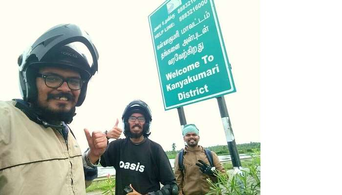 Sundar and Sachin in Kanyakumari