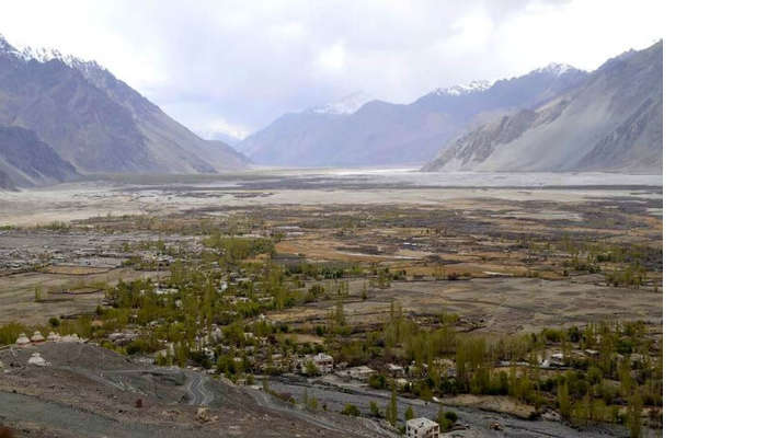 The beautiful view of the Nubra Valley