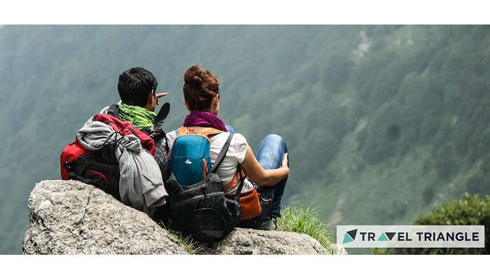 A couple in Triund in Himachal