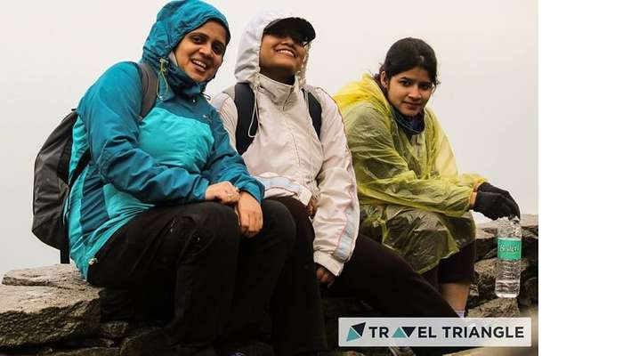 Aditi and her friends trek in rain in McLeodganj