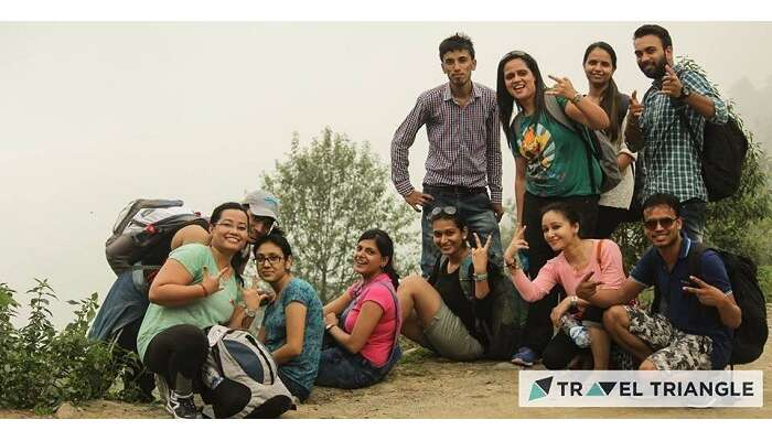 Friends in Triund in Himachal