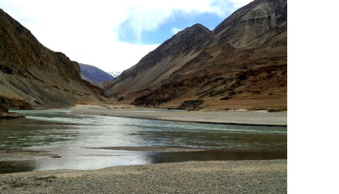 Sea merging in Leh