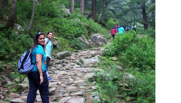 Aditi during a trek in Mcleodganj