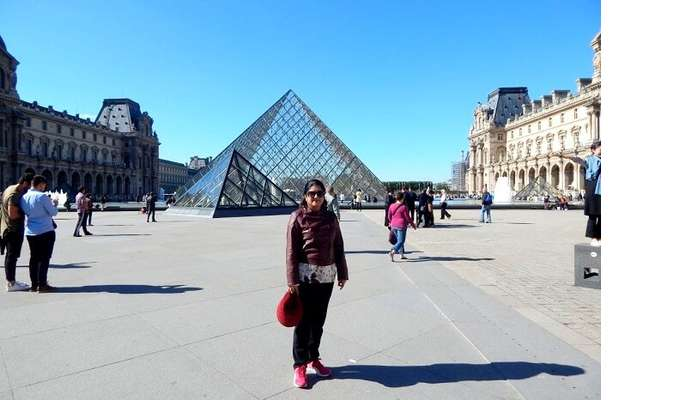 Outside the Louvre Museum