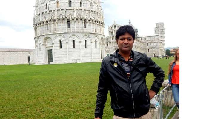 Sabyasachi visiting the city of Pisa