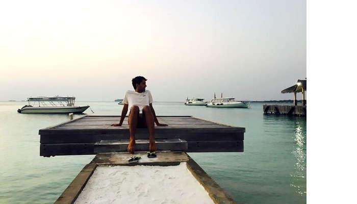 villa side view in maldives