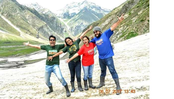 Friends on a trip to Leh