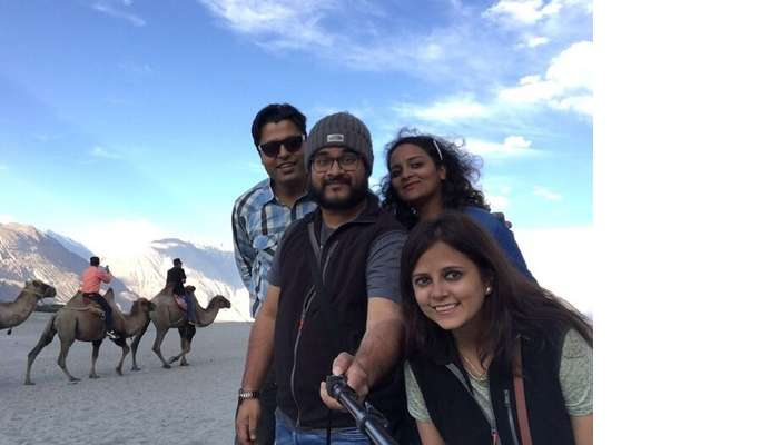friends trip to nubra valley
