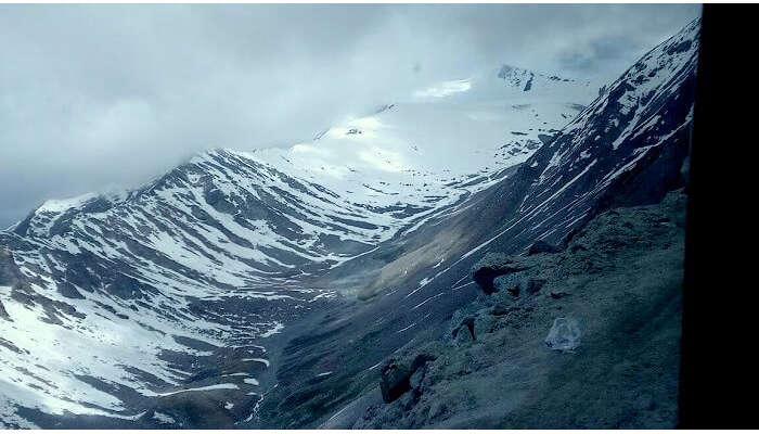 snow capped peaks in ladakh