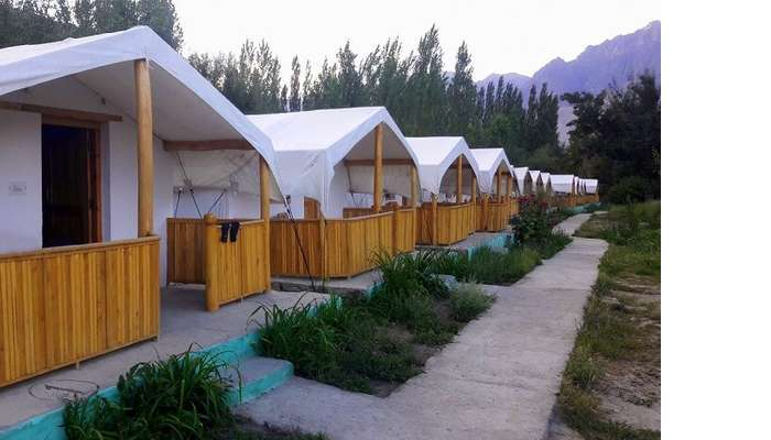 ninad tents in ladakh in nubra