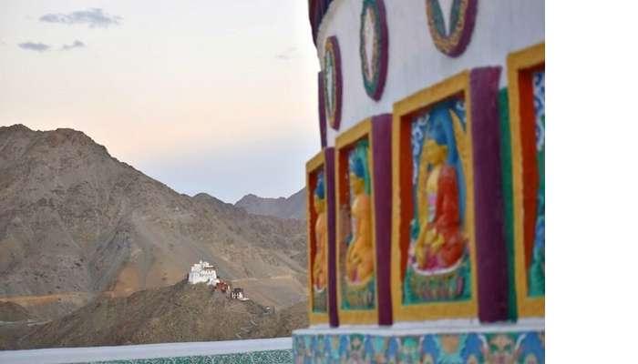 lokpal romantic trip to ladakh: views from stupa