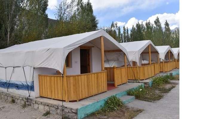 lokpal romantic trip to ladakh: hundar campsite