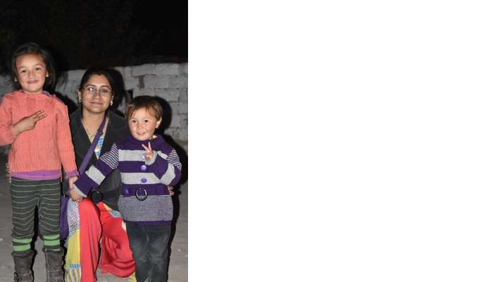 lokpal romantic trip to ladakh: lokpal's wife with ladakh kids