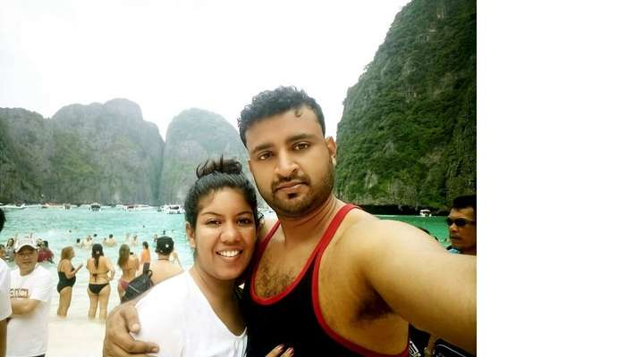 couple on Patong Beach