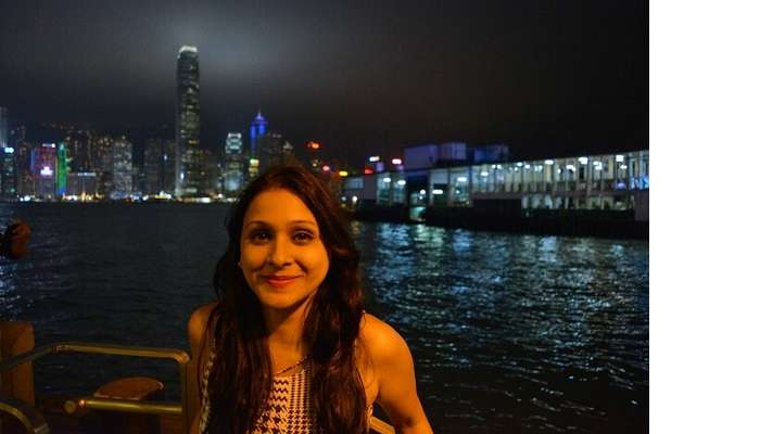 isha aggarwal hong kong family trip: at waterfront