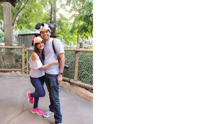 isha aggarwal hong kong family trip: with her husband in disneyland