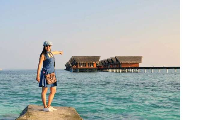sushmita maldives honeymoon: sushmita in maldives
