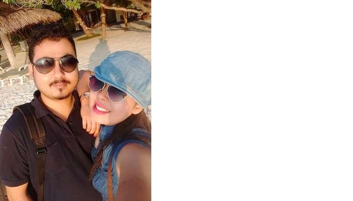 sushmita maldives honeymoon: selfie husband
