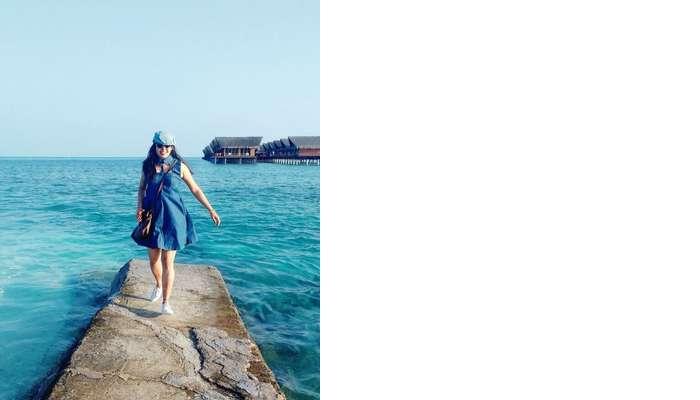 sushmita maldives honeymoon: day 1 posing
