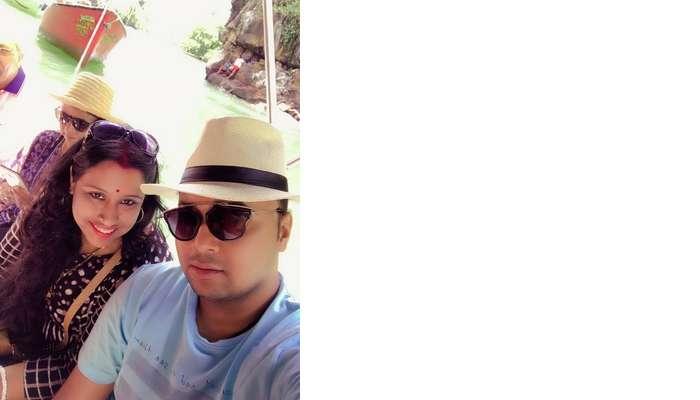 Himanshu honeymoon trip to Mauritius: himanshu and wife