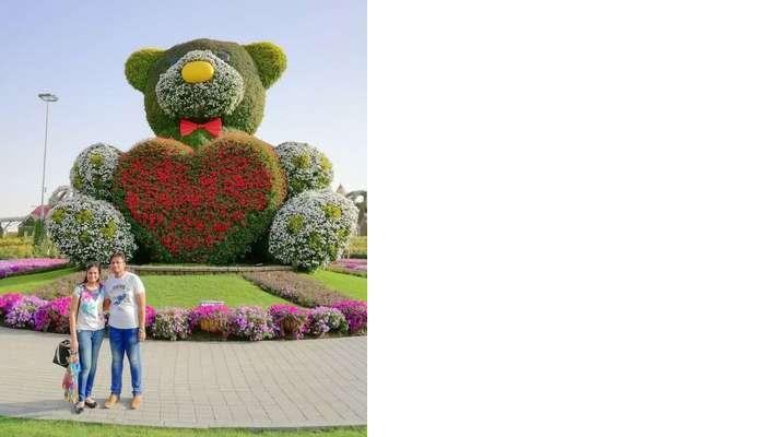 ashish singhal dubai honeymoon trip: miracle garden