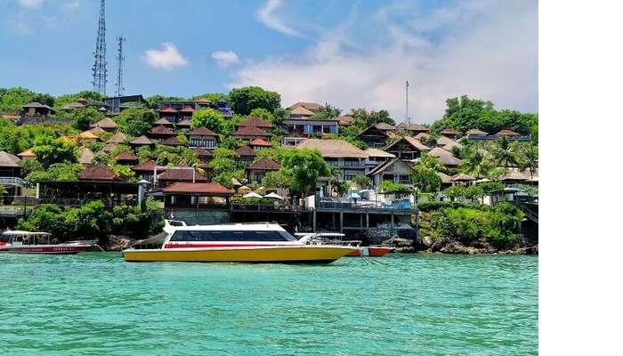 view of bali island