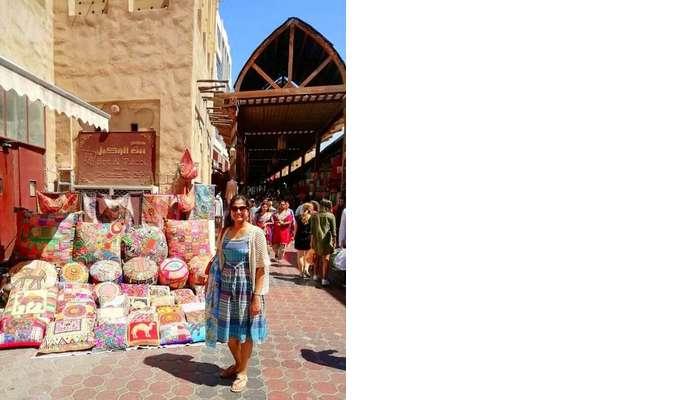 ashish singhal dubai honeymoon trip: meena bazaar