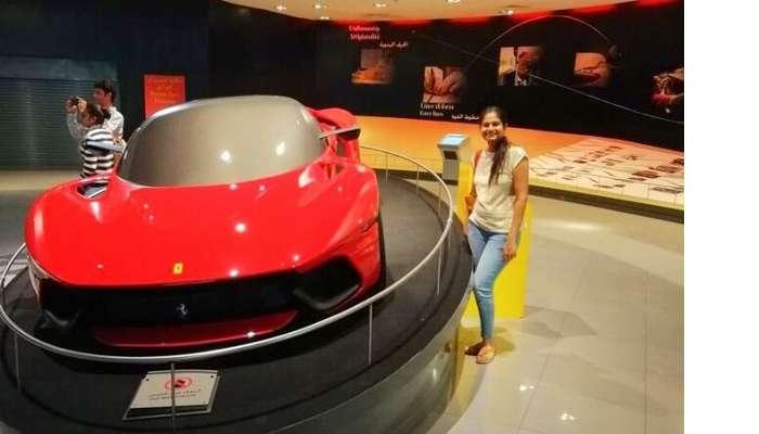 ashish singhal dubai honeymoon trip: ferrari world