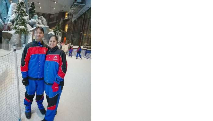 ashish singhal dubai honeymoon trip: ski dubai