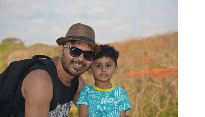 with kid in Bali