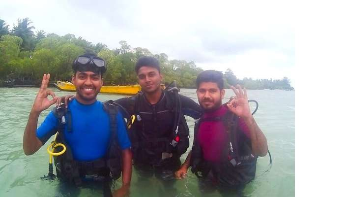 experience of scuba diving