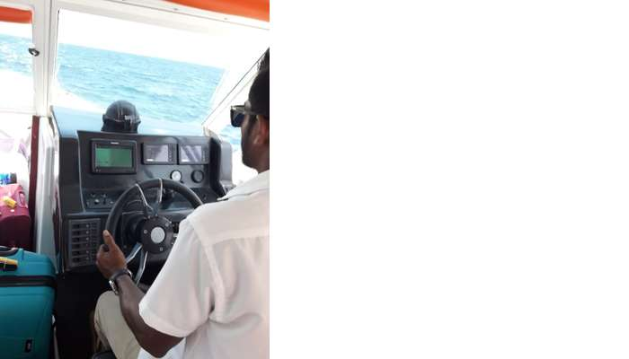 get on the speed boat to witness the ocean wonders