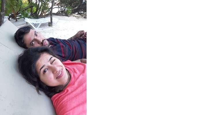 lying on the beach