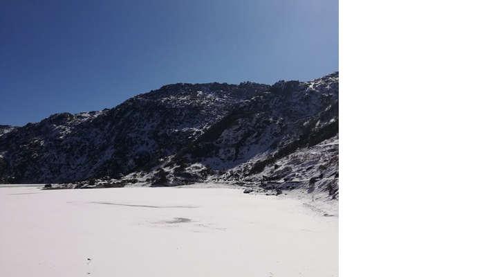 freezed Tsomgo Lake