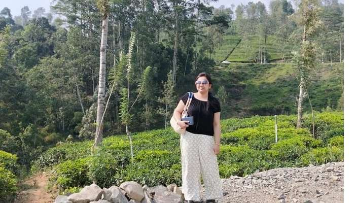 visited the picturesque tea estate