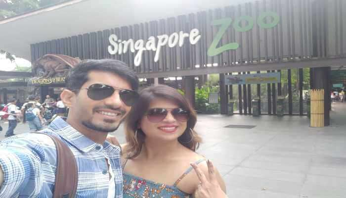 Me and My Wife at Singapore Zoo