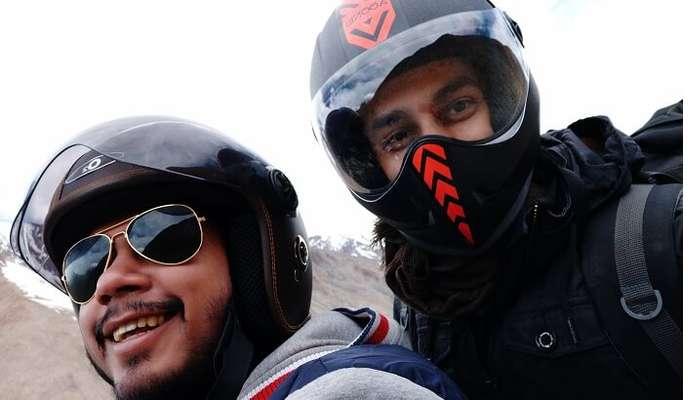 enjoying the ATV motor ride