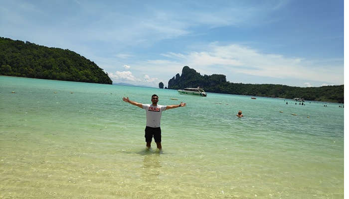 at Phi Phi islands
