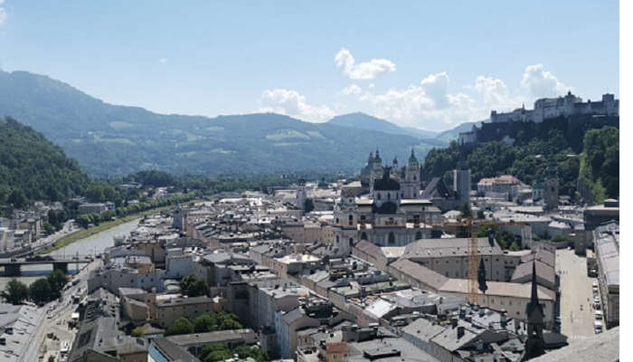 overview of the city salzburg