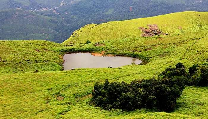 The heart shaped lake in Kerala