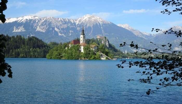 Lake Slovenia Bled Island