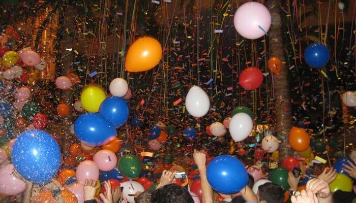 A confetti burst as Bahamas celebrates New Year