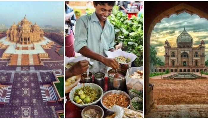 Explore Akshardham temple, Humayun tomb, street food of Delhi