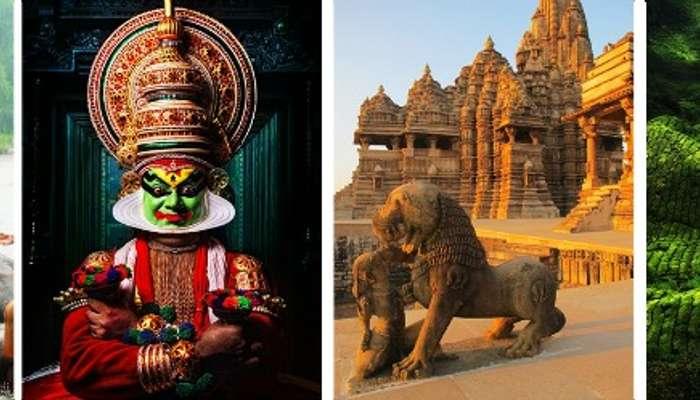 Kerala - for elephant bathing, kathakali, temples, coffee plantation